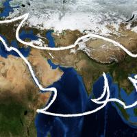 Depiction of the Belt and Road concept